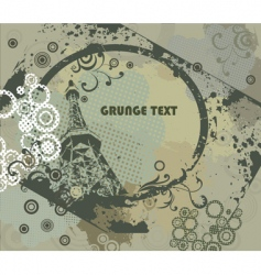 grunge frame with urban elements vector image vector image
