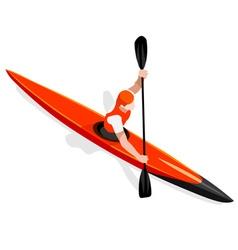 Kayak Sprint 2016 Sports Isometric 3D vector image vector image