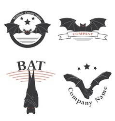 logos with the image of a bat vector image