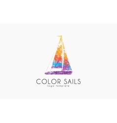 Sails logo Color sails Boat logo Sailing logo vector image