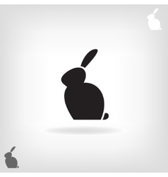 Black stylized silhouette of a rabbit vector image vector image