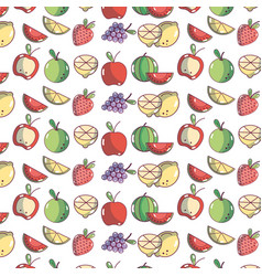 delicious fruits with nutrients and vitamin vector image vector image