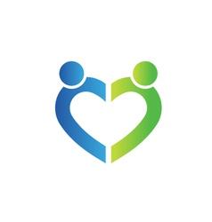 Love people logo vector image vector image
