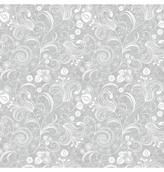 seamless gentle gray-white floral pattern vector image
