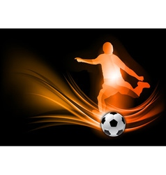 soccer player abstract red vector image vector image