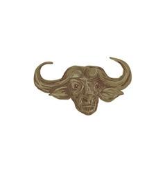 African Buffalo Head Drawing vector image