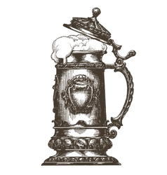 beer mug logo design template oktoberfest vector image