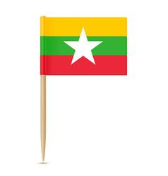 flag of myanmar flag toothpick vector image