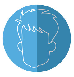 head faceless male avatar line vector image