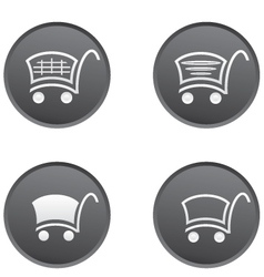 Icon set with a cart for a supermarket vector image