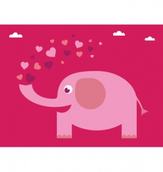 love elephant card vector image vector image