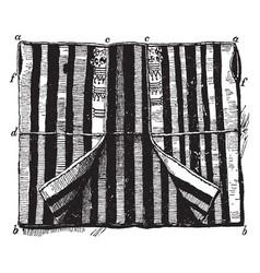 Aba is a coarse woolen stuff vintage engraving vector