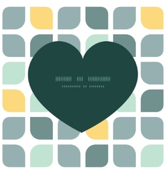 abstract gray yellow rounded squares heart vector image