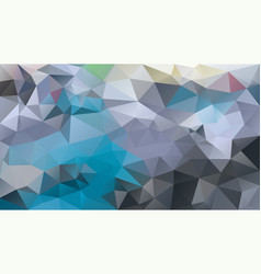 Abstract irregular polygon background blue grey vector