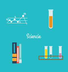 Abstract science objects vector