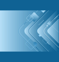 abstract technology futuristic concept blue vector image
