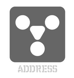 Address conceptual graphic icon vector