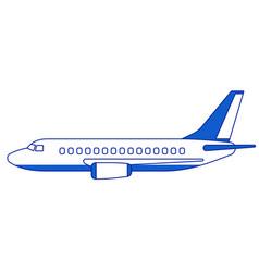 Aeroplane side view vector