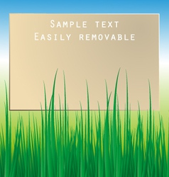Board with grass vector