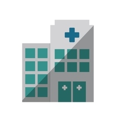 Building hospital medicine healthcare shadow vector