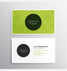 Business card template in green pattern vector