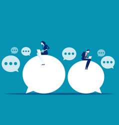Chat talk business people for sending messages vector