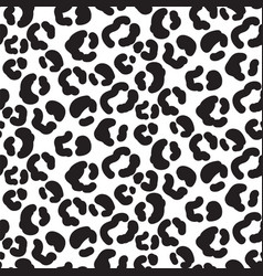 cheetah print pattern with spots and hearts black vector image