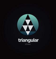 circular triangle logo design symbol vector image
