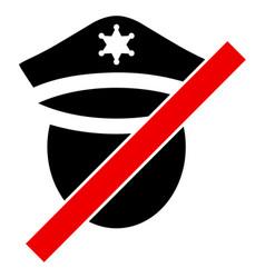 Closed police - icon vector