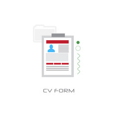 curriculum vitae document job vacancy cv form vector image