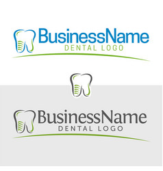 Dentist icon and logo vector
