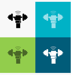 dumbbell gain lifting power sport icon over vector image