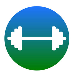 dumbbell weights sign white icon in vector image