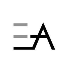 Ea logo initial letter design template vector