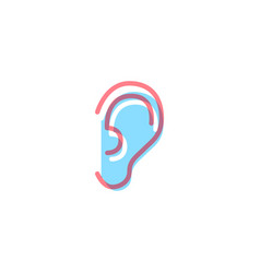 ear icon in modern colors on white vector image