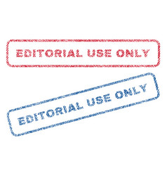 editorial use only textile stamps vector image