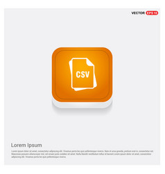 File format icon orange abstract web button vector