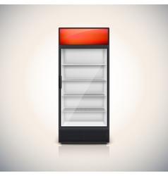Fridge with glass door vector