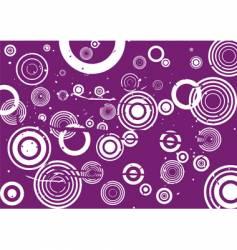 grunge circle violet background vector image