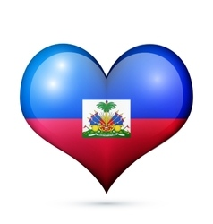 Haiti Heart flag icon vector image