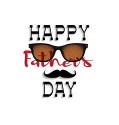 happy fathers day handwritting lettering vector image