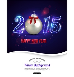 Happy new year 2015 celebration concept vector