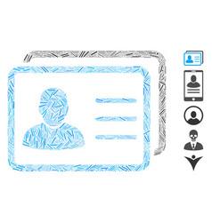 Hatch mosaic user profiles vector