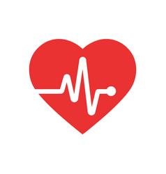 heartbeat icon flat design vector image