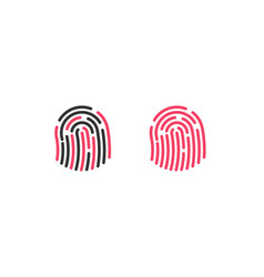 high quality fingerprint line icon isolated vector image
