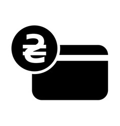 Hryvnia credit card icon vector
