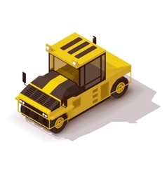 Isometric pneumatic road roller vector