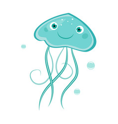 jellyfish funny alphabet animal vector image