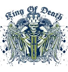 king death skull vector image