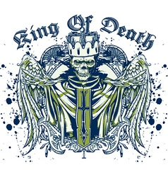 King of death skull vector image